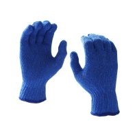 Protectaware 100% Cotton Knitted Gloves Blue - Mens (12pairs/pack)