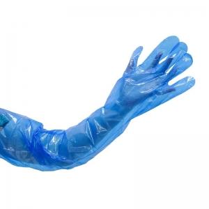 Polyethylene Heavy Duty 90cm Shoulder Length Gloves Blue - Medium (100/pack)