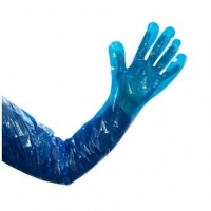 Polyethylene Heavy Duty 90cm Shoulder Length Gloves Blue - Large (100/pack)