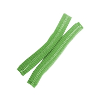 Protectaware Crimped Hair Nets Double Elastic 21inch (53cm) Green (1000/ctn)