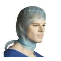 Bastion Blue Polypropylene (PP) Disposable Hood with Ties (1000/ctn)