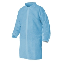Protectaware Disposable Polypropylene Lab Coat No Pocket Blue Large (100/ctn)