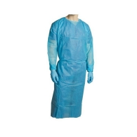Disposable Clinical Gown Blue Polypropylene (PP) 1 Size Fits All (100/ctn)