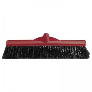 Medium Fill Plastic Backed Broom Head Red 450mm (each)
