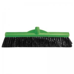 Medium Fill Plastic Backed Broom Head Green 450mm (each)
