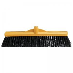 Medium Fill Plastic Backed Broom Head Yellow 450mm (each)
