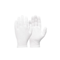 Cotton Interlock Liner Glove with Hemmed Cuff - Mens (12 pairs/pack)