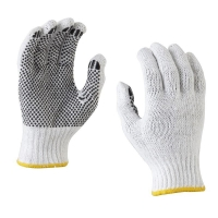 Cotton Knitted Polka Dot Glove - Mens (12 pairs/pack)
