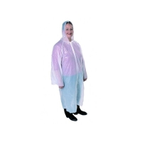 Poncho with Plastic Press Studs, Hood and Sleeves White (100/ctn)