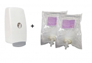 Eurosan Foaming 70% Alcohol Sanitiser 1000ml (Starter Pk 1 Dispenser + 2 Refills