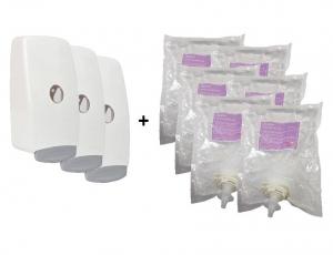 Eurosan Foaming 70% Alcohol Sanitiser 1000ml (Starter Pk 4 Dispensers + 6 Refill