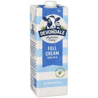 Devondale UHT Full Cream Milk 1ltr (each)