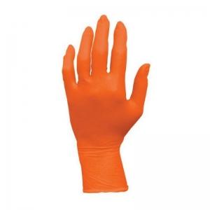 Orange Nitrile Powder Free Glove - Large (100/pack)