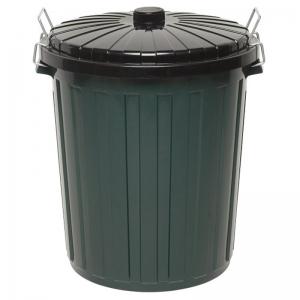 Green Plastic Bin & Lid 75L (each)