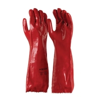 Red PVC Chemical Resistant Gauntlet 45cm (1 pair)