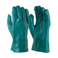 Green PVC Double Dipped Gauntlet 27cm (1 pair)