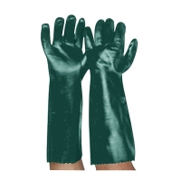 Green PVC Double Dipped Gauntlet 45cm (1 pair)