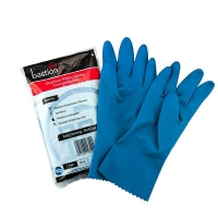 Blue Silver Lined Gloves - Medium Size 8 (1 pair)