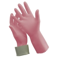 Pink Silver Lined Gloves - Medium Size 8 (1 pair)