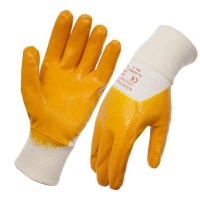 Nitrile Coated Cotton Interlock Glove Knitted Wrist Large (1 pair)