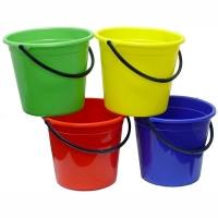 Plastic Bucket with Handle 10ltr - Yellow (each)