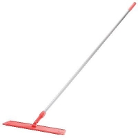 Oates Microfibre Flat Mop Handled Red 600mm (each)