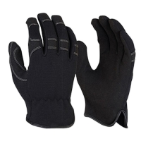 G Force Black Synthetic Riggers Glove Large Size 10 (1 pair)