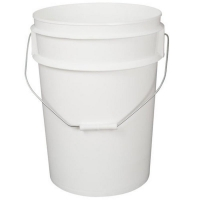 White Pail With Lid 10ltr/kg - 285mm Dia x 257mm High (each)