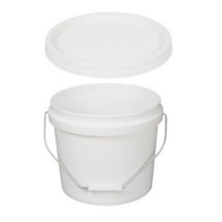 White Tamper Evident Pail & Lid 10L - 285mm Dia x 257mm High (each)