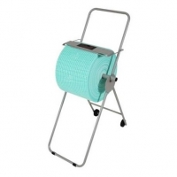 Premium Floor Stand Wipe Dispenser with Wheels to suit Jumbo Rolls (each)