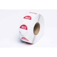 Day Dot Label Wednesday Freezer Grade 24mm (700/roll)