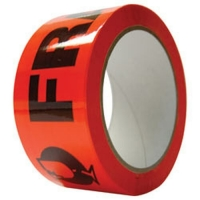 Fragile Tape Black/Orange 48mm x 66m (36/ctn)