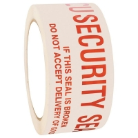 Security Seal Tape Red/White 48mm x 100m (36/ctn)