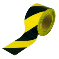 Floor Marking Tape Black/Yellow 48mm x 33m (1 roll)