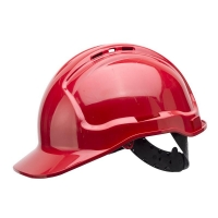 Vented Hard Hat Sliplock Harness Red (each)