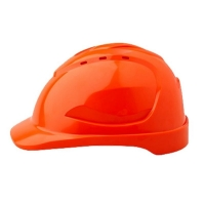 Vented Hard Hat Sliplock Harness Fluro Orange (each)