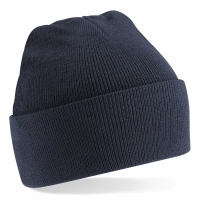 100% Acrylic Roll-Up Beanie - Black
