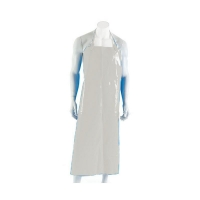 Polyurethane Reusable Apron 90cm (W) x 120cm (L) with Strap & Clip White (each)