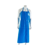 Polyurethane Reusable Apron 90cm (W) x 120cm (L) with Strap & Clip Blue (each)