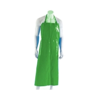 Polyurethane Reusable Apron 90cm (W) x 120cm (L) with Strap & Clip Green (each)