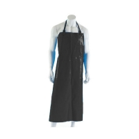 Polyurethane Reusable Apron 90cm (W) x 120cm (L) with Strap & Clip Black (each)