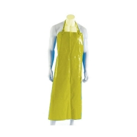 Polyurethane Reusable Apron 90cm (W) x 120cm (L) with Strap & Clip Yellow (each)