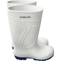 Maxisafe White PU Gumboot Non Safety Toe Size 4 (1 pair)