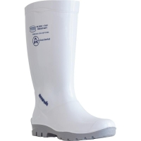 White PVC Gumboots Non Safety Toe Mens Size 7 (41) (1 pair)