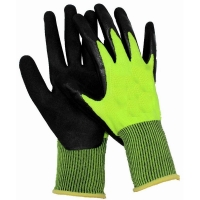 Hi Vis Nitrile Coated Glove Medium Size 8 (1 pair)