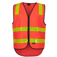 Hi Vis Day/Night Reflective VIC Roads Safety Vest - Orange Small (each)