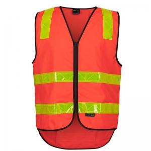 Hi Vis Day/Night Reflective VIC Roads Safety Vest - Orange 7XLarge (each)