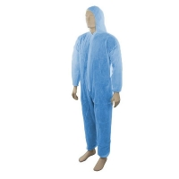 Disposable Polypropylene (PP) Coveralls Blue Small (Each)