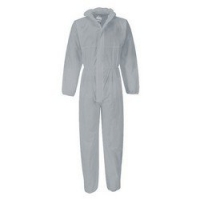 Protectaware SMS Type 5 & 6 White Coverall with Hood - Large (Each)