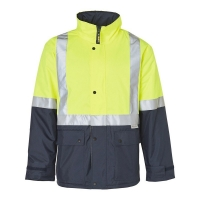 Hi Vis Day Night Two Tone Quilted Jacket Yellow/Navy Chest 70cm Length 81cm 3XLa
